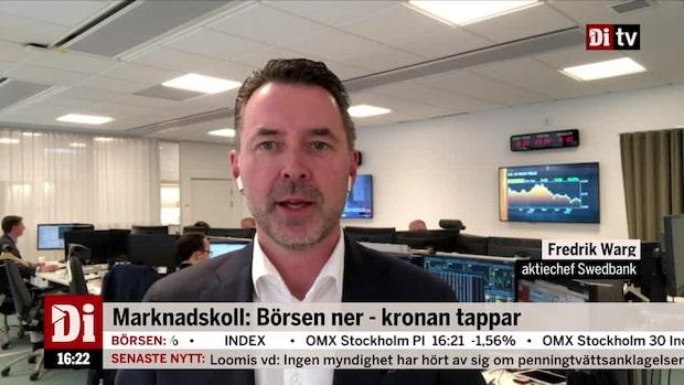 """Fredrik Warg: """"Kortsiktig nedgång på 5 procent - till att börja med"""""""