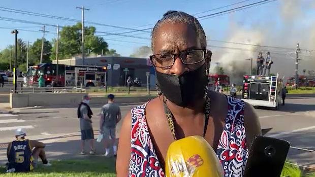 Folket arga över polisens övervåld mot George Floyd