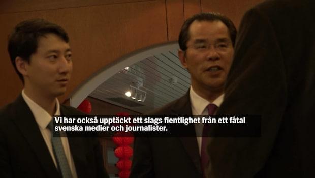 Kinas ambassadör: Kritikerna bör rannsaka sig själva