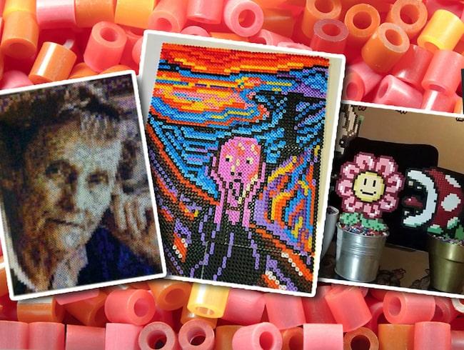 Trenden att pärla tavlor och skulpturer sprider sig som en löpeld.