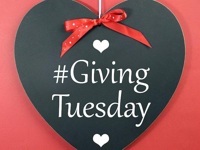 Nu kommer #GivingTuesday, tisdagen den 28 november, som en räddare efter Black Weekend.