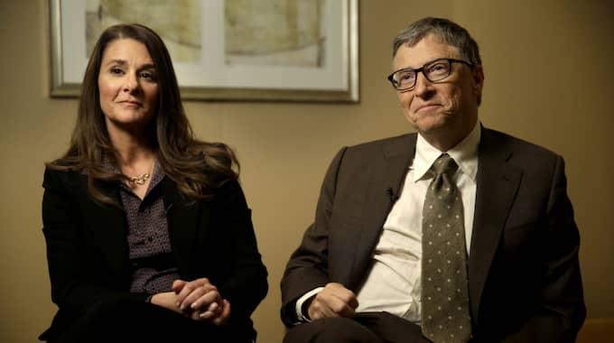 Melinda Gates tillsammans med maken Bill Gates. Foto: Seth Wenig / AP