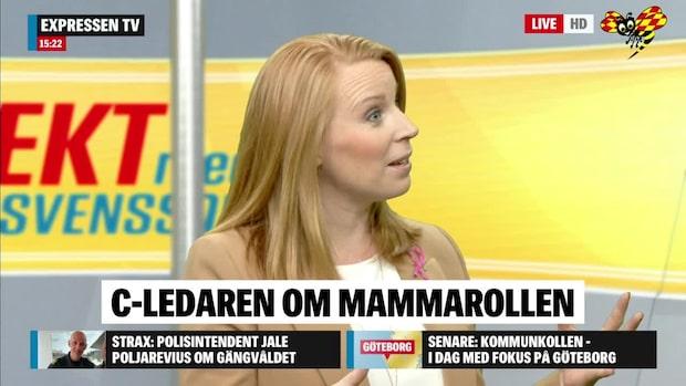 Annie Lööf om SD:s opinionsframgångar