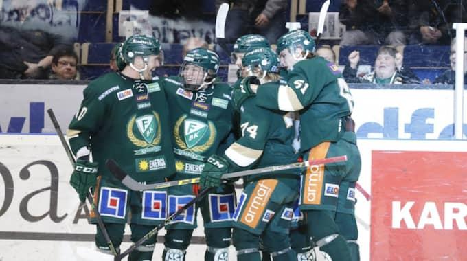Färjestad fick fira segern efter 5-2. Foto: Anna-Lena Bergqvist