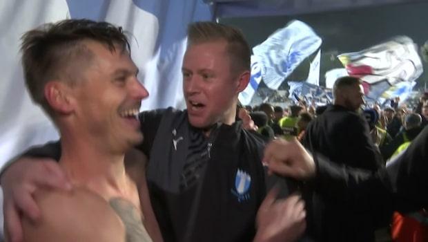 """Rosenberg firar halvnaken i spelargången: """"Är såklart väldigt glad"""""""