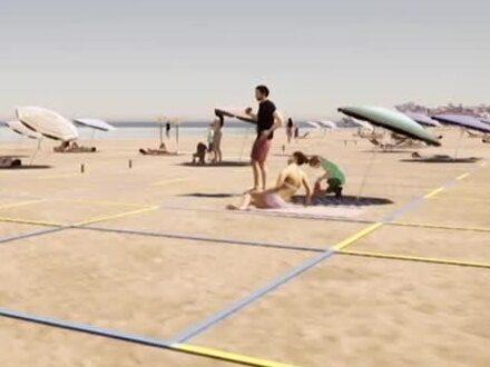 Spanien redo för social distans på stränderna