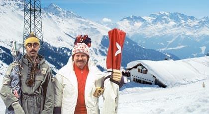 """Verbier är verklighetens Kirchberg. Här spelades kultrullen """"Sällskapsresan II - Snowroller"""" in för snart 25 år sedan."""