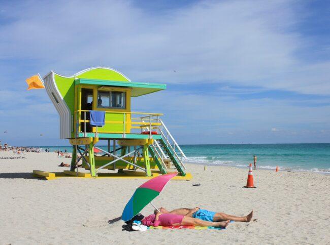 Strandhäng i South Beach.