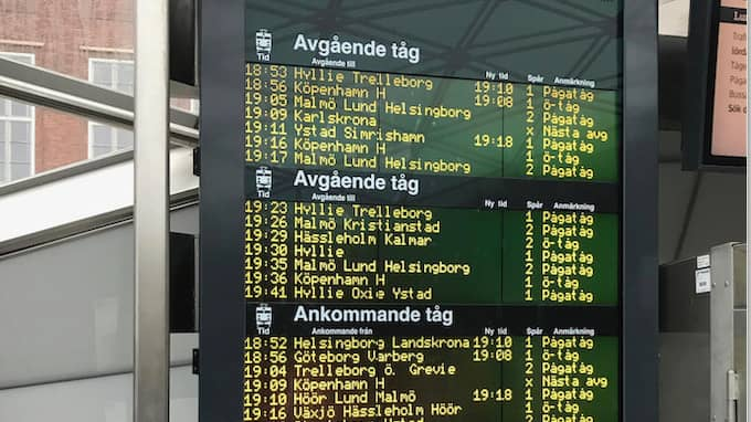 Vissa tåg är en halvtimme försenade. Arkivbild från Malmö C. Foto: PRIVAT