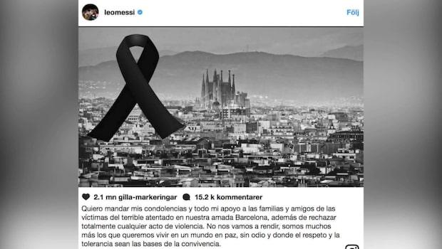 Fotbollsvärldens reaktioner efter terrorattentaten
