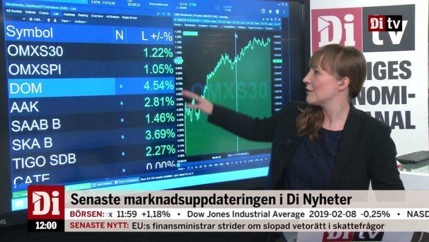Di Nyheter 12.00: Dometic upp på riktskurshöjningar