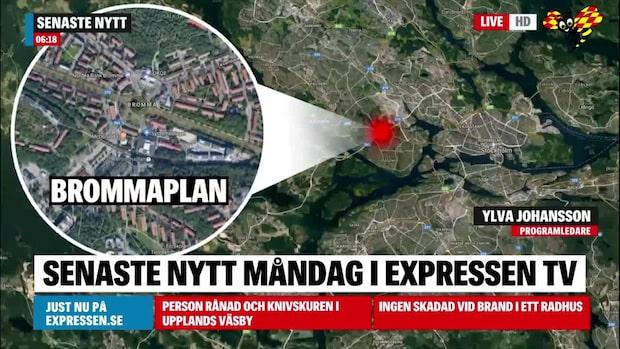 Fyra personer till sjukhus efter krasch vid Brommaplan