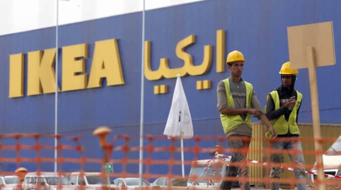 Det första Ikea-varuhuset under konstruktion i Marocko. Foto: Abdeljalil Bounhar/AP/TT