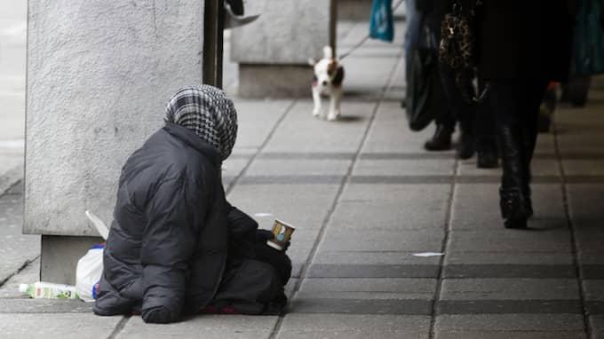 Moderaterna vill se ett förbud för tiggeri. Foto: PER WISSING / GT/EXPRESSEN
