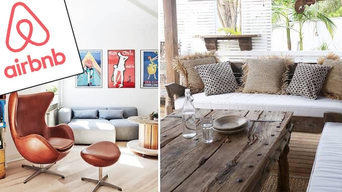 Årets omsättning för Airbnb beräknas landa på 200 miljoner kronor.