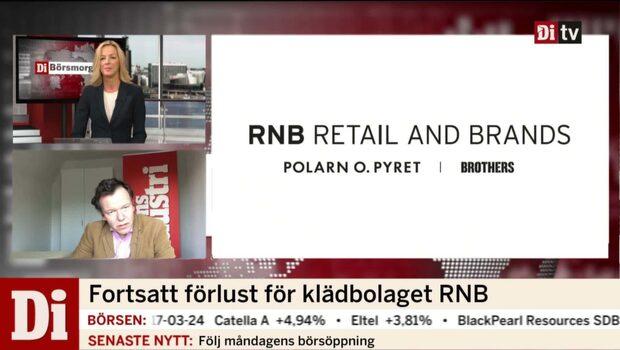 Fortsatt förlust för klädbolaget RNB