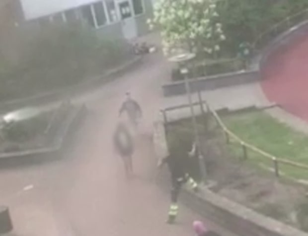 Knivkvinna nedbrottad på lekplats
