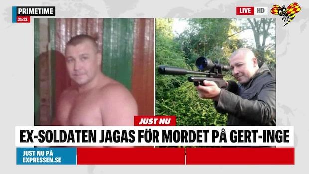 Ex-soldat jagas för mordet på Gert-Inge