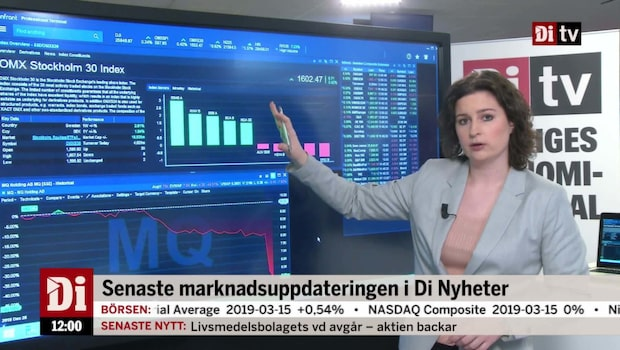 Di Marknadskoll 12.00 - Kinneviks innehav lyfter aktien