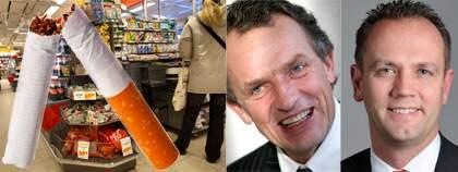 Anders Strålman, koncernchef för matvarujätten Axfood, och Henrik Ripa (M). Foto: Scanpix