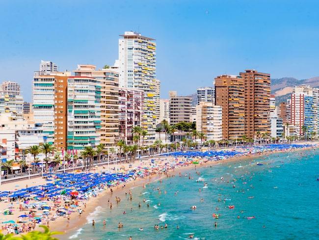 Benidorm är en populär semesterstad på den spanska kusten.