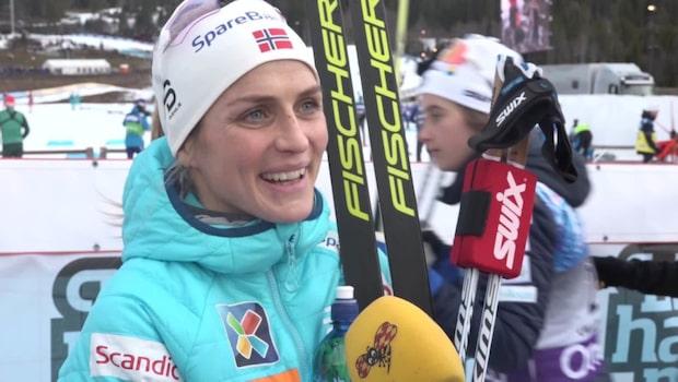 """Therese Johaug: """"Jag är väldigt imponerad"""""""