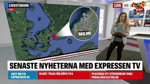 Sprängladdning hittad i lägenhet i Malmö
