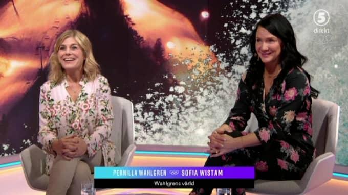 Wahlgren gästade programmet tillsammans med Sofia Wistam. Foto: Kanal 5