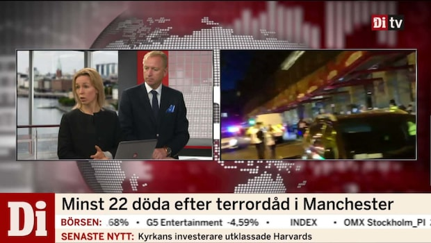 """Efter terrordådet: """"Lite påverkan på det finansiella"""""""