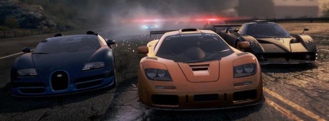 """I """"Need for Speed Most Wanted"""" får spelaren ge järnet utan att bekymra sig om trafikregler."""