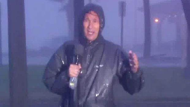 Orkanen Sally har nått USA:s södra kust