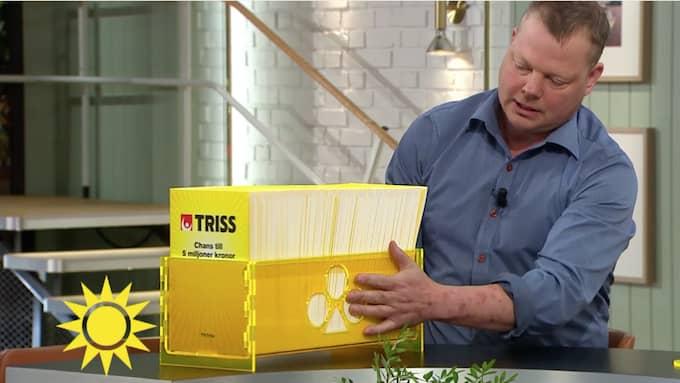 Trisslådan fick åka karusell. Foto: TV4