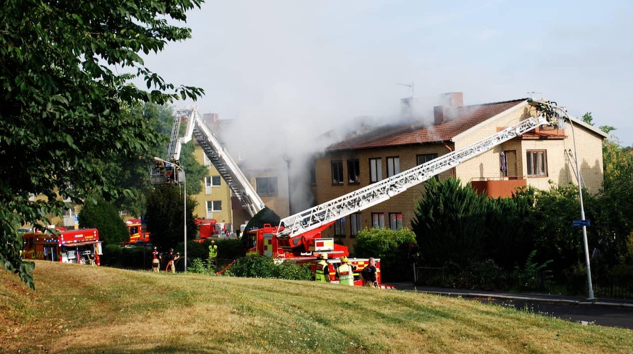 Storbrand I Flerfamiljshus I Linkoping