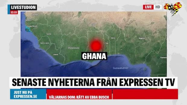 Bussolycka i Ghana – minst 60 personer döda