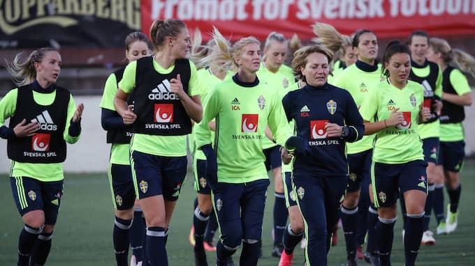 Damlandslaget kommer inte att gå på fotbollsgalan. Foto: ADAM IHSE/ TT / TT NYHETSBYRÅN