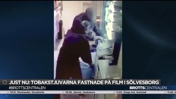 Tjuvar gjorde inbrott på mack – överraskades av väktare