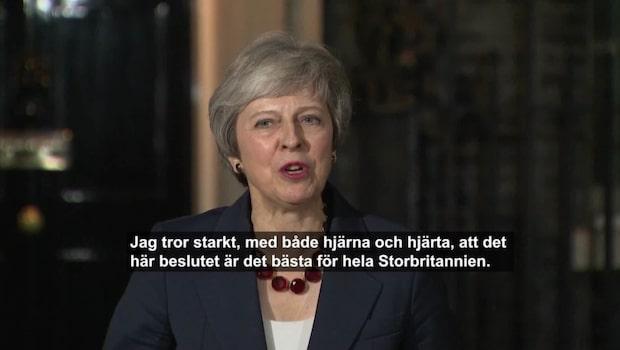 Theresa Mays besked – allt närmare ett brexit