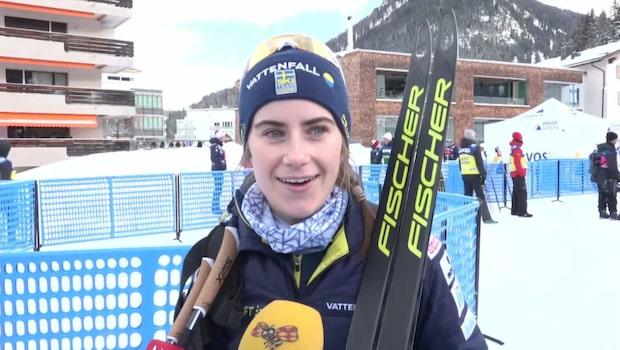 Ebba Andersson fyra – 38 sekunder bakom Johaug