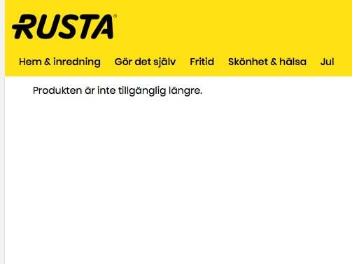 På Rusta är Nissedörren slutsåld.