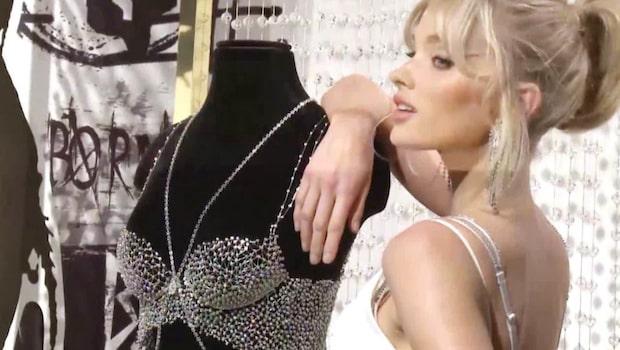 Svenska supermodellen Elsa Hosk i bh för 9 miljoner