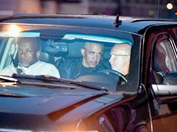 Här anländer Barack Obama till Stockholm