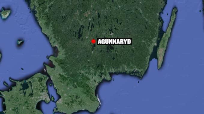 På söndagskvällen larmades räddningstjänst om ett övertänt hus i Agunnaryd i Ljungby kommun.