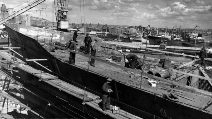 Eriksbergsvarvet, 1950-tal.