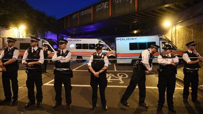 """Londons borgmästare Sadiq Khan kallar attacken en """"förfärlig terroristattack"""". Foto: FACUNDO ARRIZABALAGA / EPA / TT / EPA TT NYHETSBYRÅN"""