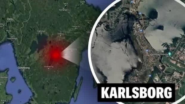 Misstänkt granat vid badplats i Karlsborg