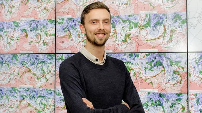 Meteorologen Lasse Rydqvist säger att kylan kommer att stanna kvar i Sydsverige hela den kommande veckan. Foto: STORMGEO