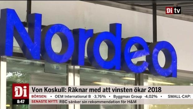 Wellfelt om Nordea: Landar tydligt under målet