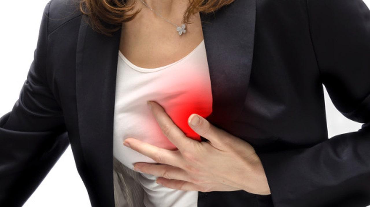 svidande känsla i bröstet