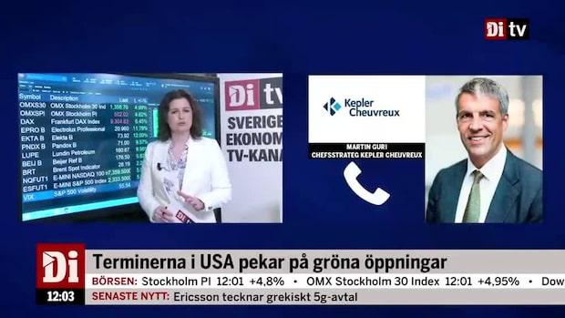 """Marknadskoll 12.00: Börsen rekylerar upp - """"men stressen kommer komma tillbaka"""""""