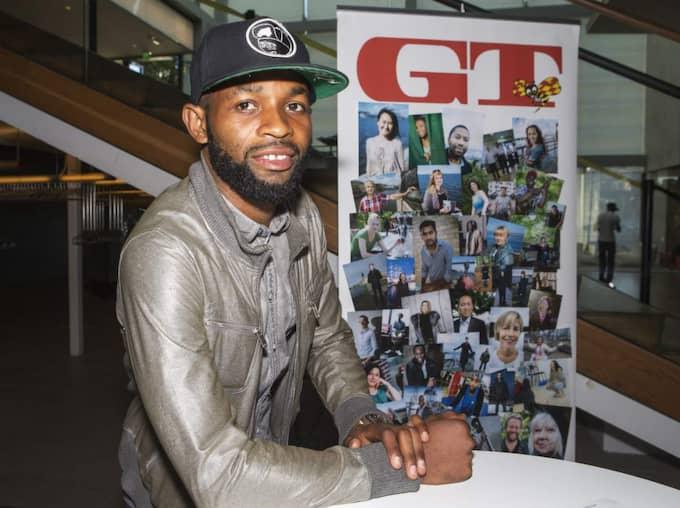Först. Häckens fotbollsspelare René Makondele var nr 1 i GT:s artikelserie som startade den 31 mars förra året. Foto: Jan Wiriden